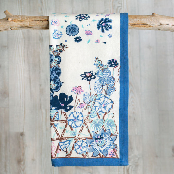 blue fleur sauvage tea towel-kitchen & dining - tea towels & aprons-couleur nature-k colette
