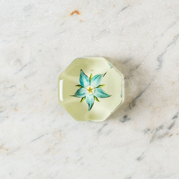 blue flower 22 charm paperweight