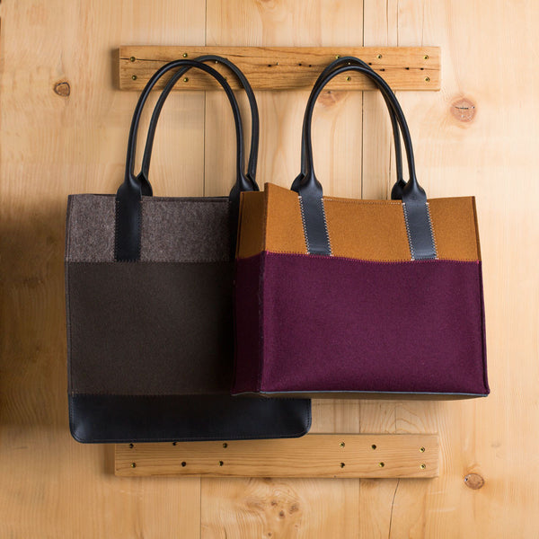 jaunt tote-accessories - handbags & clutches-graf & lantz-burgundy & camel-regular-k colette