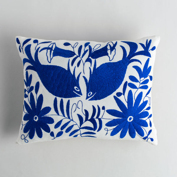 royal blue otomi lumbar pillow-final stock-nahual-k colette