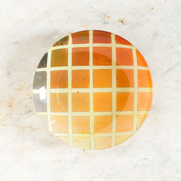 color grid bowl, orange-art & decor - decoupage-john derian-k colette