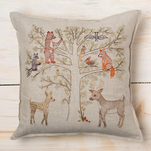 woodland living tree pillow-bed & bath - decor - pillows-coral & tusk-k colette