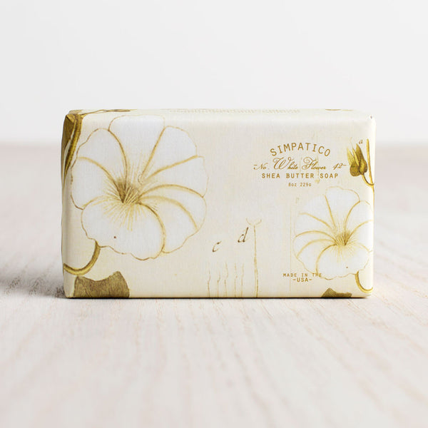 white flower bar soap-apothecary - soaps & lotions-simpatico by k hall designs-Default-k colette
