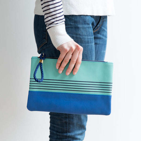 buoy block clutch, aquamarine & cobalt-accessories - handbags & clutches - maine - sea-eklund griffin-k colette