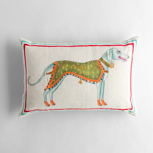 dog lumbar pillow-bed & bath - art & decor - pillows-john robshaw-k colette