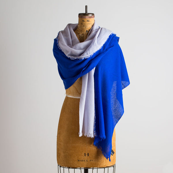 alpha bicolor shawl-accessories - scarves - thank - give-teixidors-indigo blue & fog grey-k colette