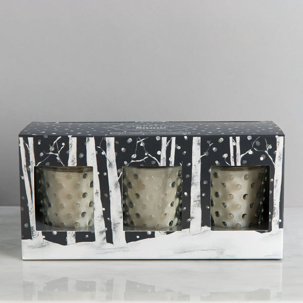 hobnail glass votives, snow-apothecary - candles-simpatico by k hall designs-k colette