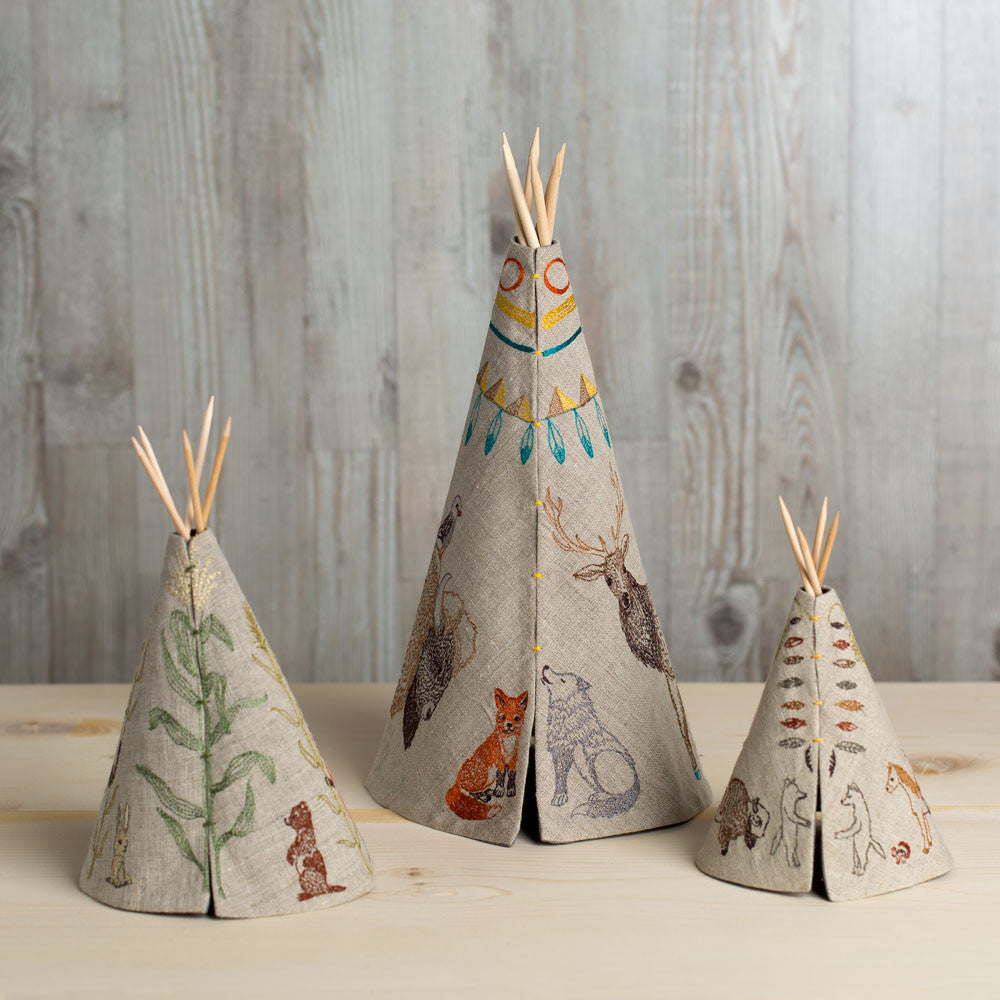 embroidered tipi-baby - nursery decor-coral & tusk-k colette