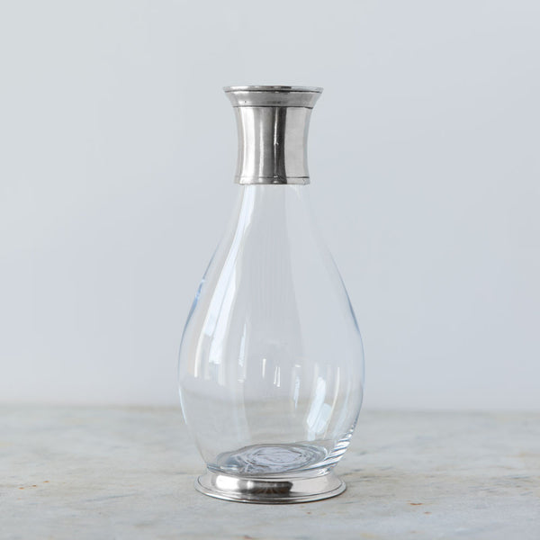 tall carafe with pewter collar-kitchen & dining - serveware - thank-match-k colette