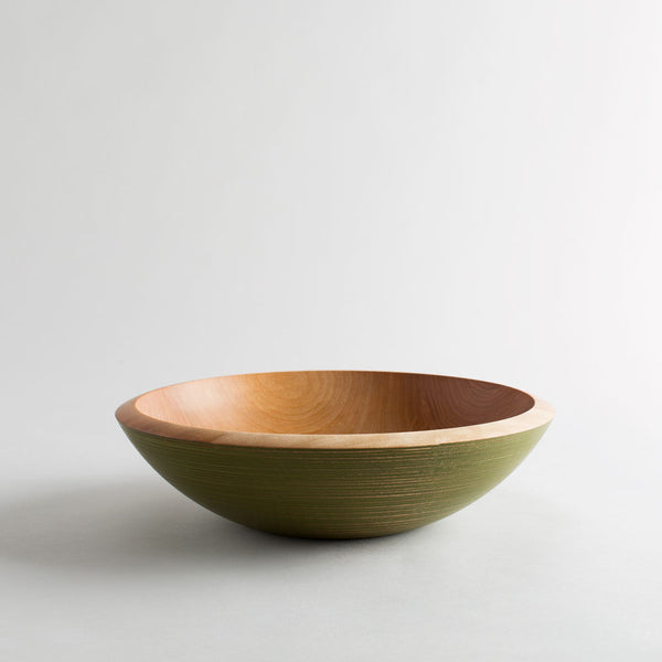 maple wood turned salad bowl-kitchen & dining - serveware - love - thank-mark gardner-Green-Small-k colette
