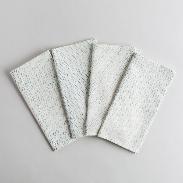 audrey indigo napkin set-kitchen & dining - table linens-les indiennes-k colette