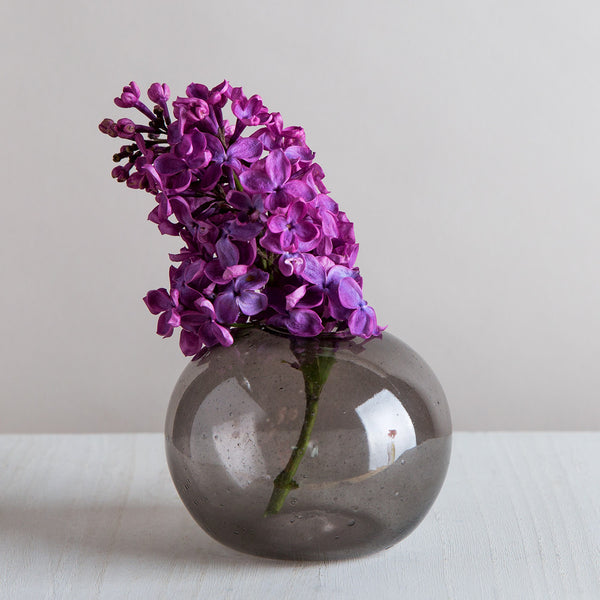 oragnic seed vase, smoke grey-art & decor - vases-lbk studio-k colette