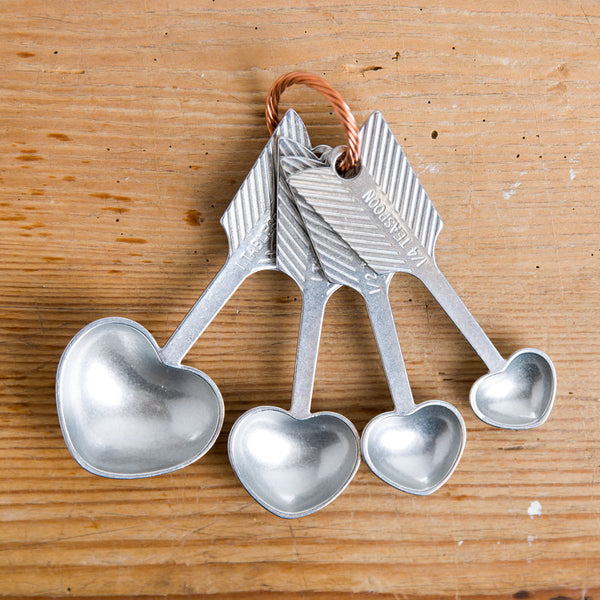 heart measuring spoon set-kitchen & dining - cooking & baking-beehive handmade-k colette