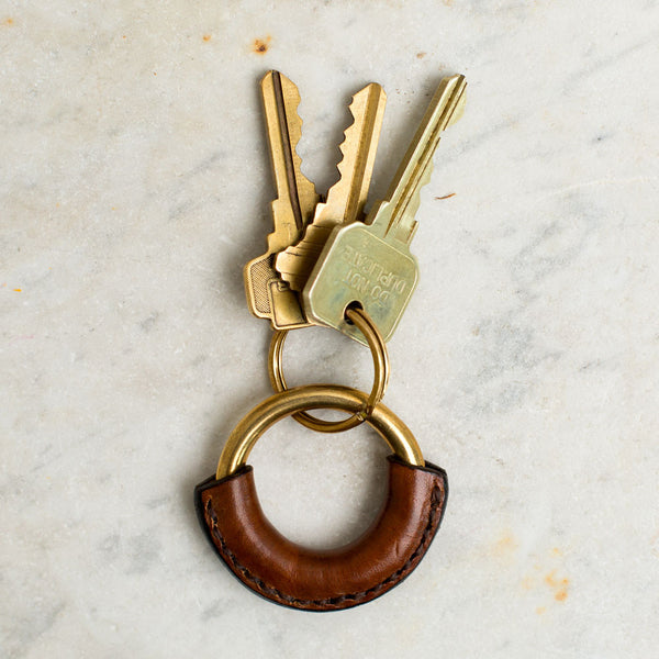 leather & brass ring keychain-accessories - handbags & clutches-a.b.k.-Default-k colette