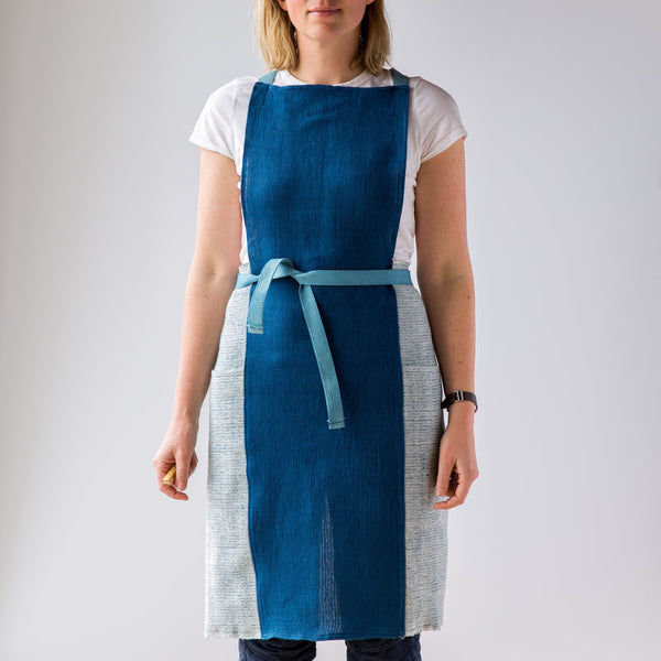 stripes apron-kitchen & dining - tea towels & aprons-sin-indigo-k colette