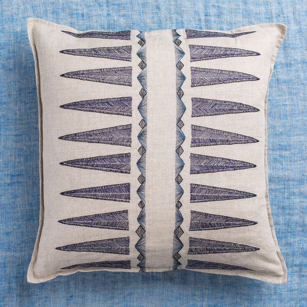 limited edition navy quill pillow-textiles - pillows-coral & tusk-Default-k colette