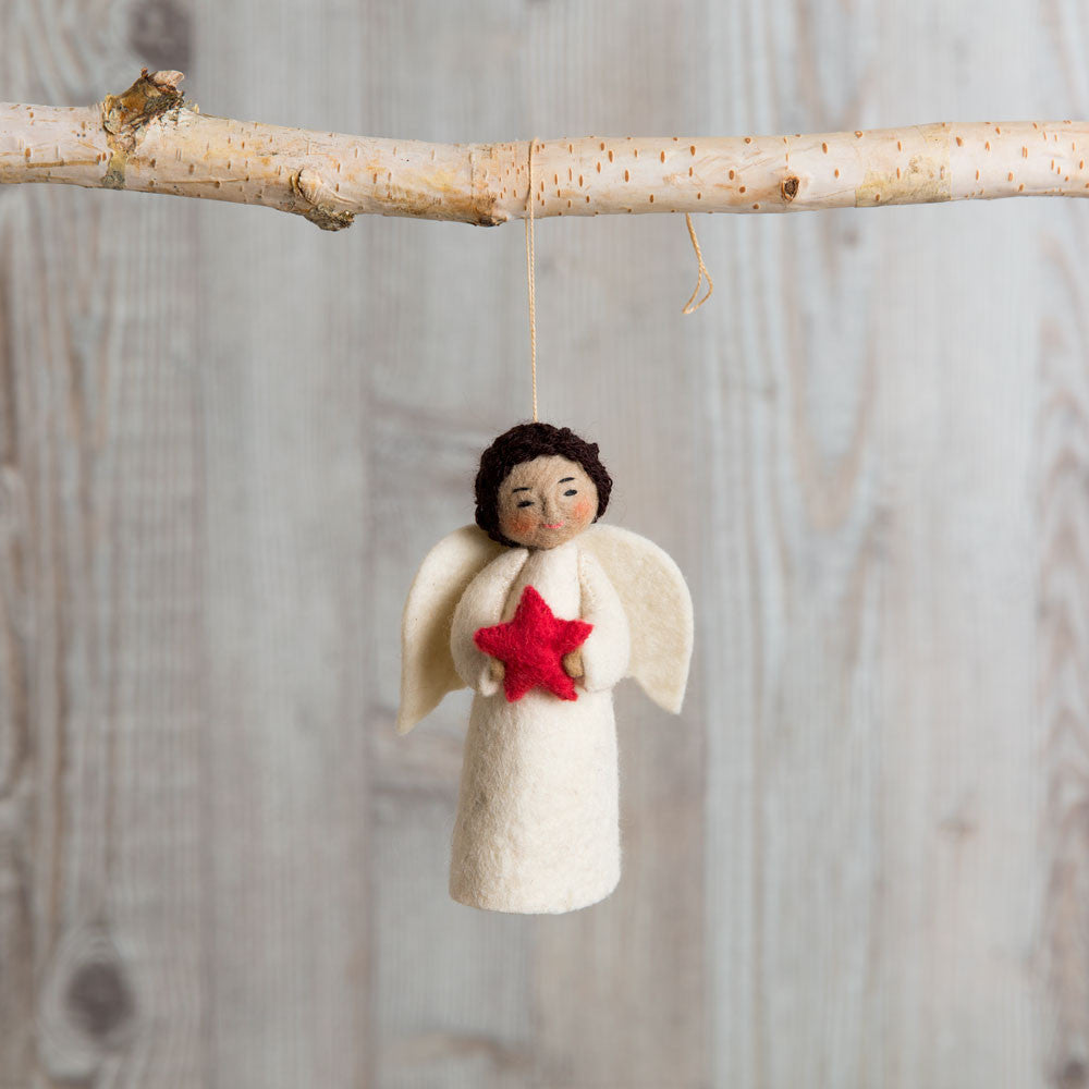 brown shining star angel ornament-holiday - ornaments-craftspring-k colette