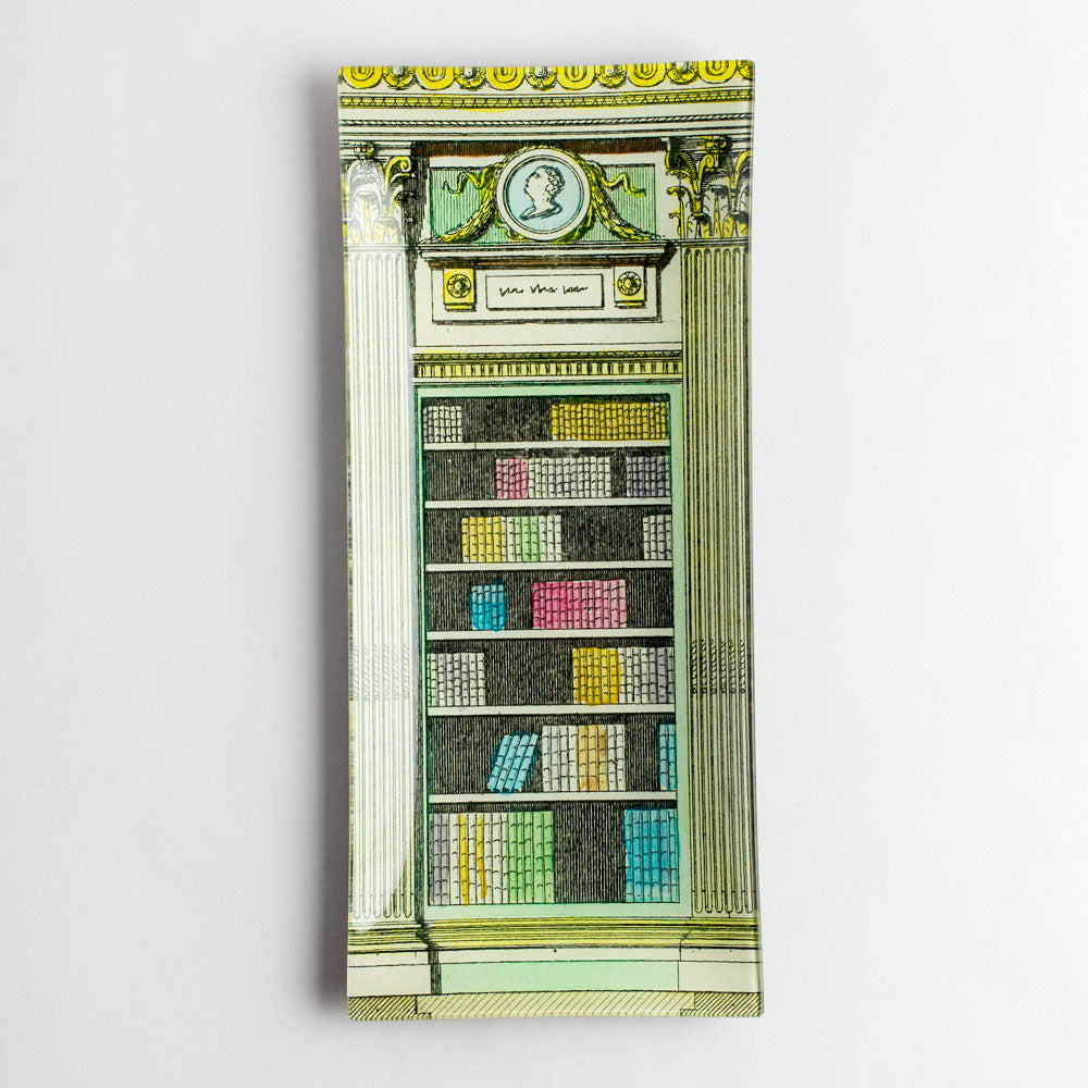 library cameo white & yellow long tray-art & decor - decoupage-john derian-k colette