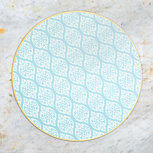 hardwood placemat-kitchen & dining - dinnerware-holly stuart designs-Sea Persia-k colette
