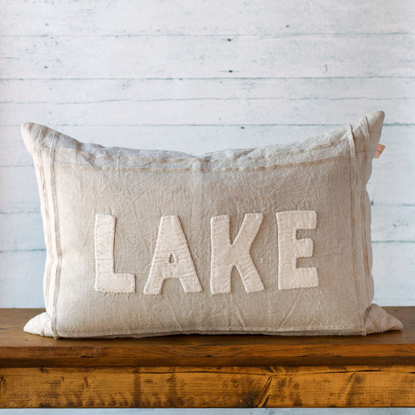 natural lake linen pillow-bed & bath - decor - pillows-taylor linens-k colette