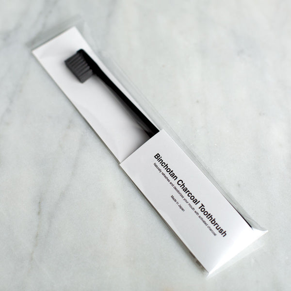 charcoal toothbrush-bed & bath - bath accessories - stocking-binchotan charcoal by morihata-k colette