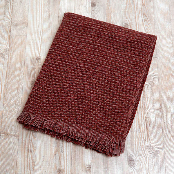 terracotta earth throw-textiles - throws-teixidors-k colette