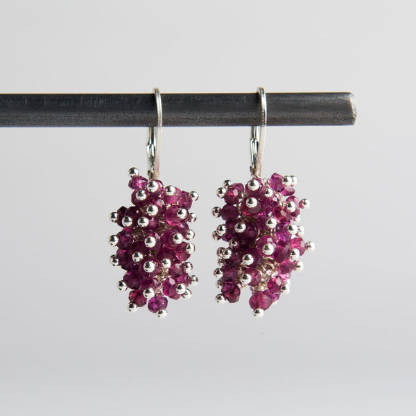 rhodolite garnet cluster earrings-accessories - jewelry-lisa gent jewelry-k colette