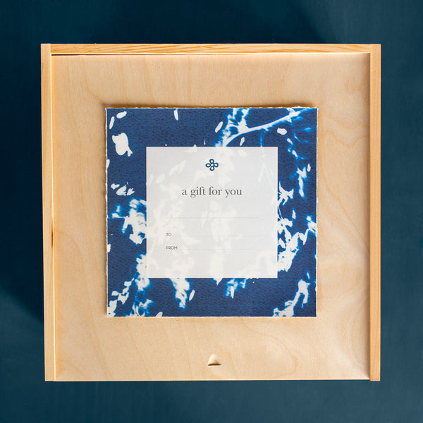 "special edition pine wood gift box-k colette-square - 8.5"" x 13"" x 13""-k colette"