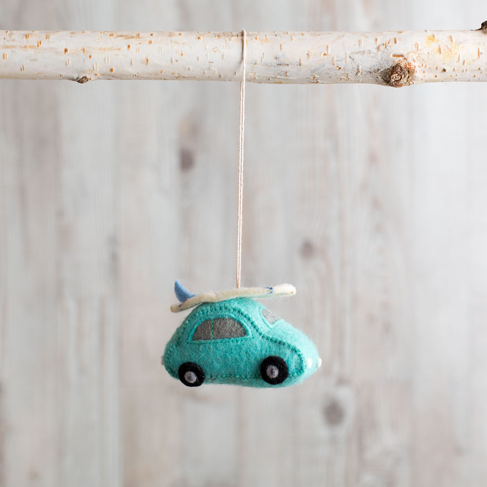 catch a wave car ornament-holiday - ornaments-craftspring-turquoise-k colette