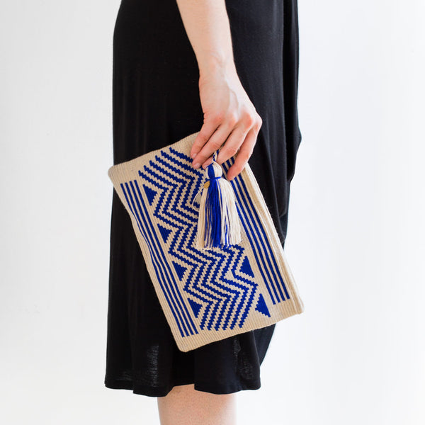 zig zag wayuu clutch, cobalt-accessories - handbags & clutches-guanábana-Default-k colette