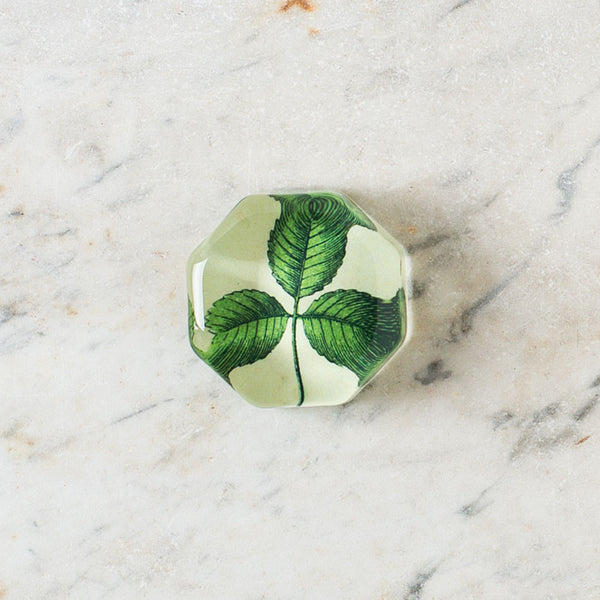 clover charm paperweight