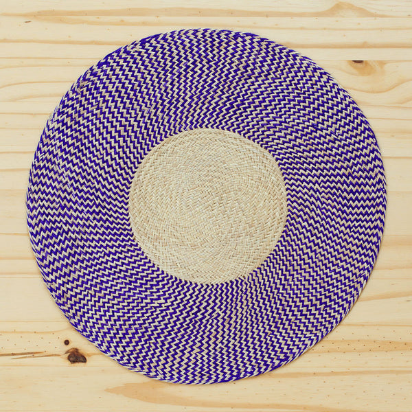 zig zag straw placemats, purple-kitchen & dining - table linens-guanábana-Default-k colette