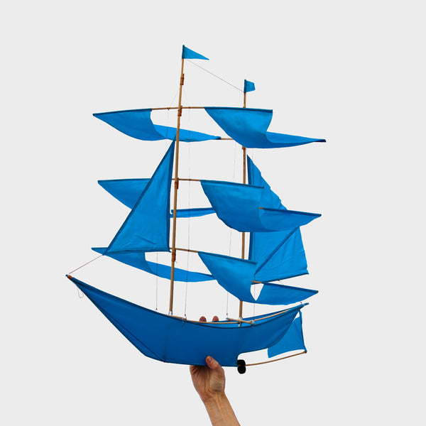 sailing ship kite-baby - nursery decor-haptic lab-azure-k colette