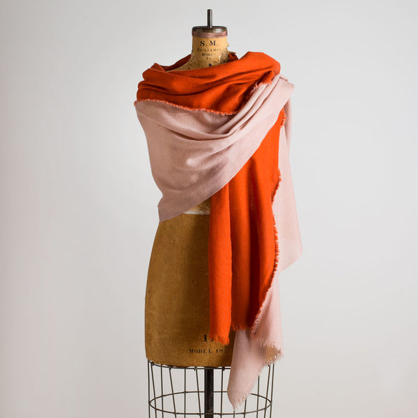 alpha bicolor shawl-accessories - scarves - thank-teixidors-copper & pink-k colette