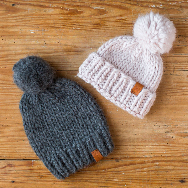 chunky knit hat-accessories - hats & gloves-sien + co-charcoal-k colette