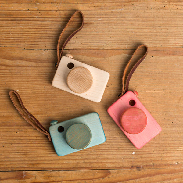 say cheese wooden camera-baby - toys-little miss workbench-red-k colette
