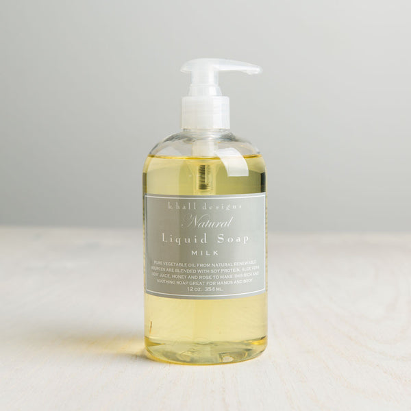 milk liquid hand soap-apothecary - soaps & lotions-k hall designs-k colette