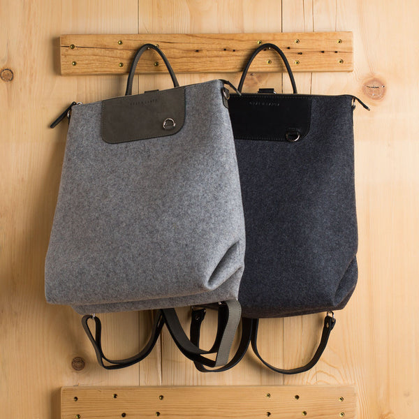 bedford backpack-accessories - handbags & clutches-graf & lantz-charcoal-k colette