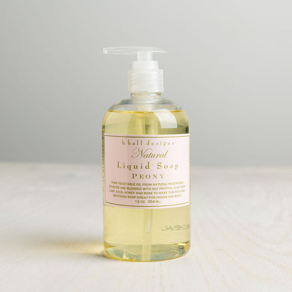 peony liquid hand soap-apothecary - soaps & lotions-k hall designs-Default-k colette