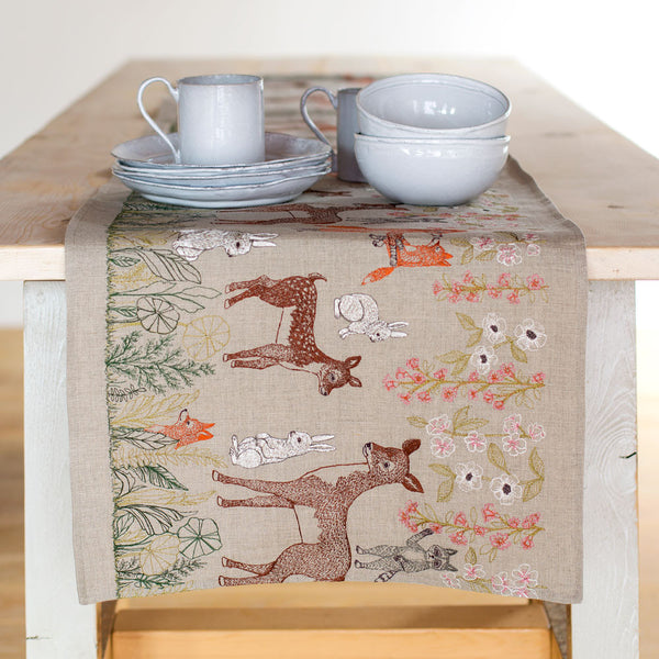 spring blossoms table runner-kitchen & dining - table linens-coral & tusk-Default-k colette