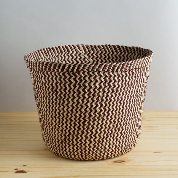 zig zag iraca basket, toast & brown-art & decor - decorative objects-guanábana-Default-k colette