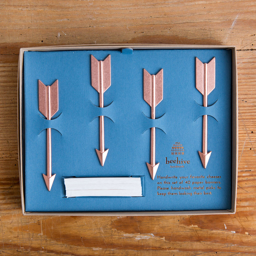 arrow cheese marker set-kitchen & dining - serveware-beehive handmade-copper-k colette
