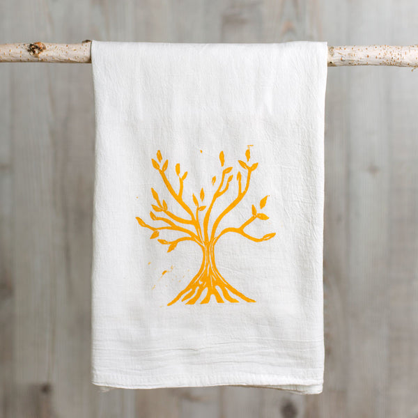 tree of life wood block print tea towel-kitchen & dining - tea towels & aprons-color.joy-Default-k colette