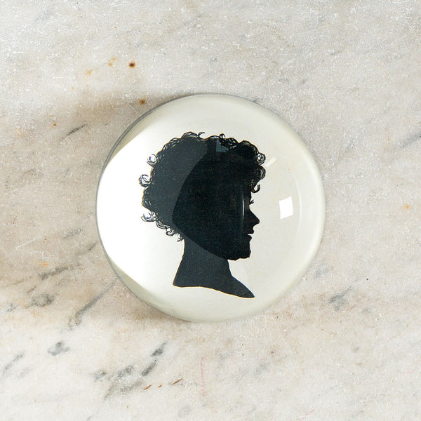 child silhouette dome paperweight-art & decor - decoupage - desktop - paperweights-john derian-Default-k colette