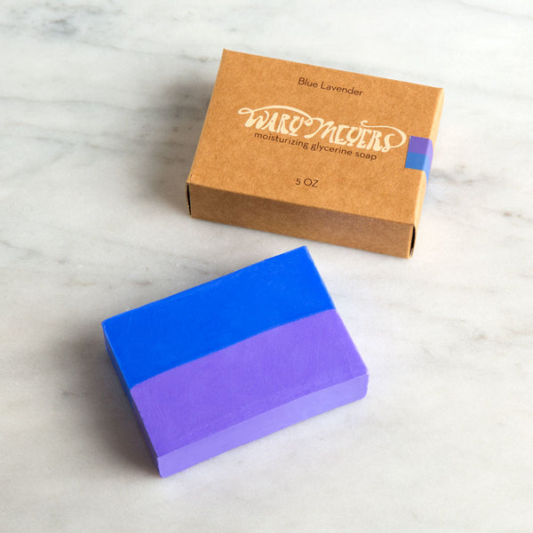 blue lavender bar soap-apothecary - soaps & lotions-wary meyers-k colette