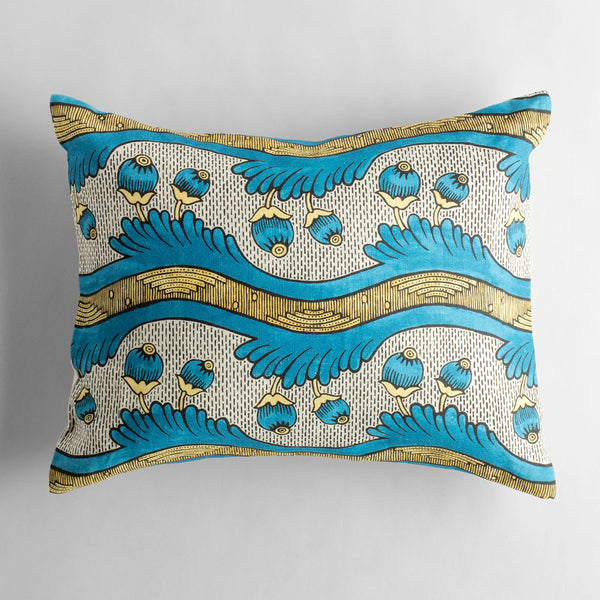 grenades bleu et jaune pillow-bed & bath - art & decor - pillows-antoinette poisson-k colette