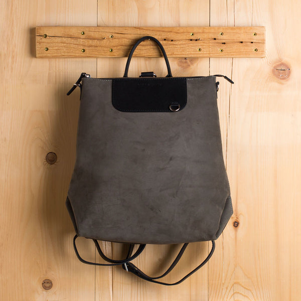 nubuck leather bedford backpack, moss-accessories - handbags & clutches-graf & lantz-Default-k colette
