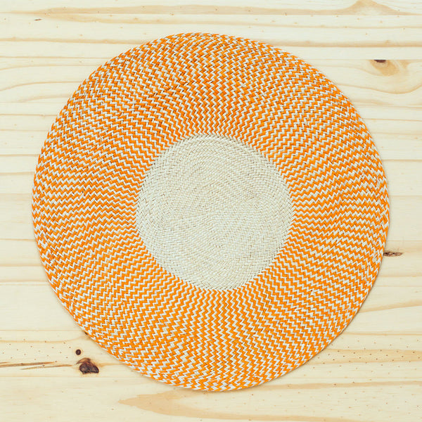 zig zag straw placemats, orange-kitchen & dining - table linens-guanábana-Default-k colette