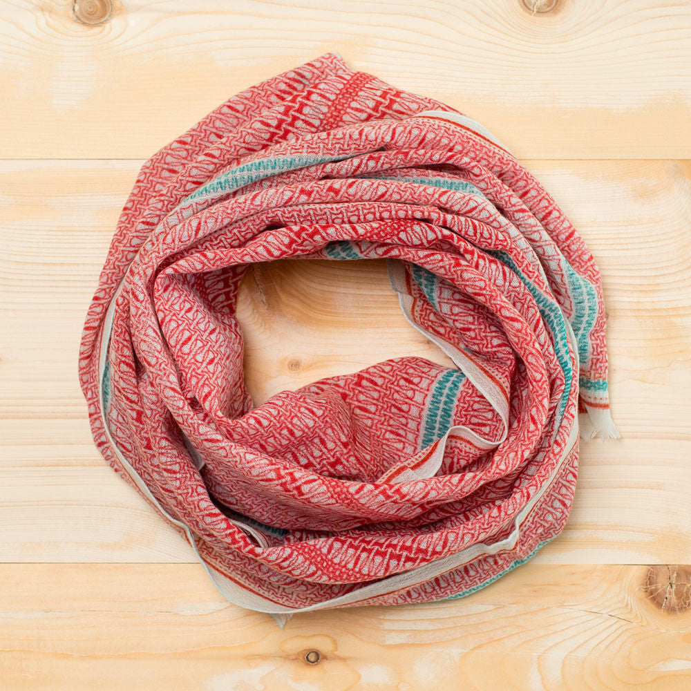 zipo wool scarf-accessories - scarves-anna kaszer-red-k colette