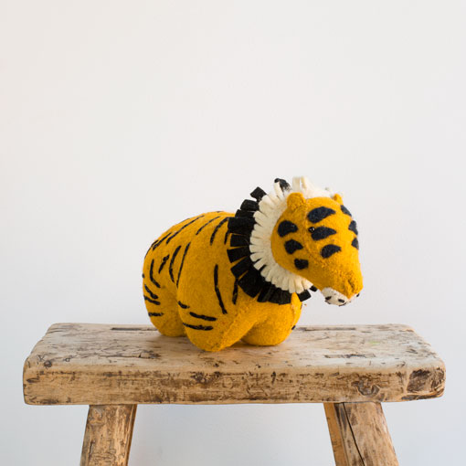 tiger door stopper-baby - nursery decor-fiona walker-k colette